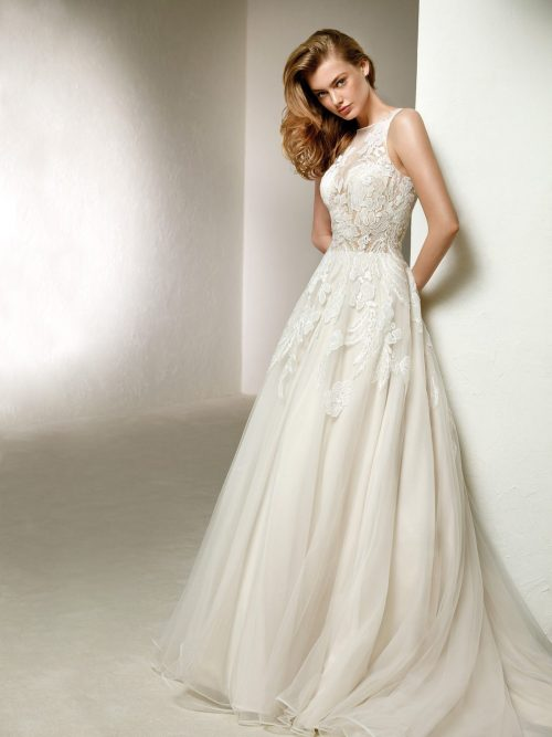 WEDDING DRESS SALE - Pronovias Dola ROMANTIQUE BRIDAL MAGHERAFELT NORTHERN IRELAND