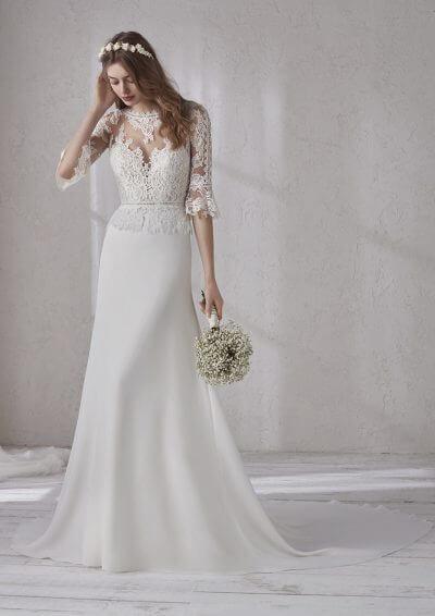 MARIANNE 2019 Pronovias Wedding Dress. Romantique Bridal, Magherafelt, Northern Ireland Tel 02879300632